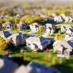 Neubau-Immobilien Luftaufnahme